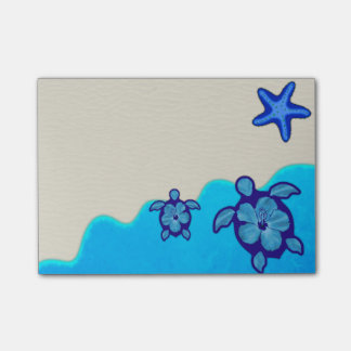 Blue Honu Turtles Post-it Notes