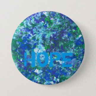 Blue Hope Button by KitCaseyStudio