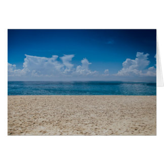 Blue Horizon Sandy Seashore Card