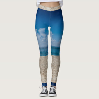 Blue Horizon Sandy Seashore Leggings
