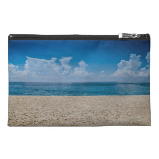 Blue Horizon Sandy Seashore Travel Accessory Bag