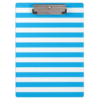 Blue Horizontal Stripes Clipboard