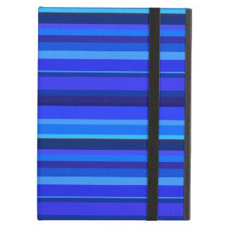Blue horizontal stripes iPad air cover