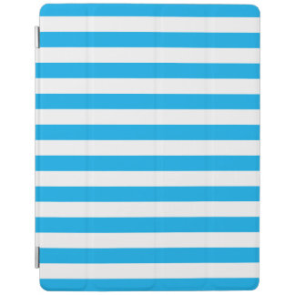 Blue Horizontal Stripes iPad Cover