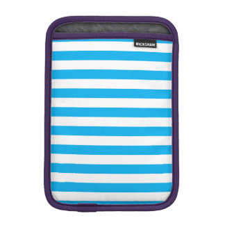 Blue Horizontal Stripes iPad Mini Sleeve