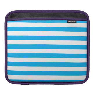 Blue Horizontal Stripes iPad Sleeve