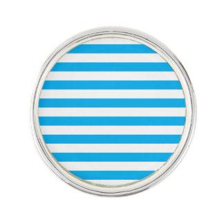 Blue Horizontal Stripes Lapel Pin