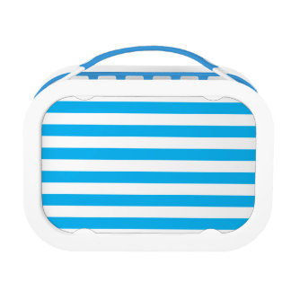 Blue Horizontal Stripes Lunch Box