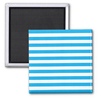 Blue Horizontal Stripes Magnet