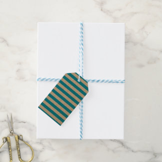 Blue Horizontal Stripes Pack Of Gift Tags