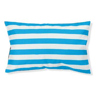Blue Horizontal Stripes Small Dog Bed