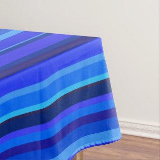Blue horizontal stripes tablecloth