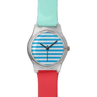 Blue Horizontal Stripes Watch