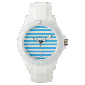Blue Horizontal Stripes Watch