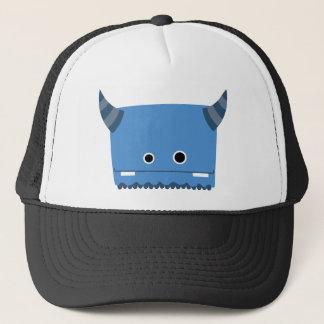 Blue Horned Monster Trucker Hat