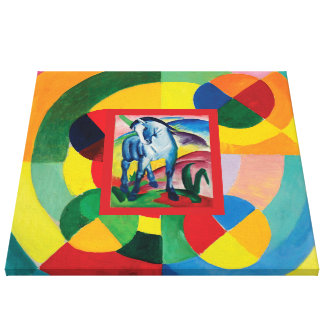 Blue Horse and Rythme Joie de Vivre Canvas Print