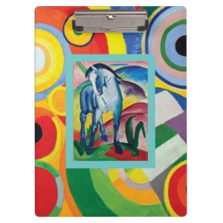 Blue Horse and Rythme Joie de Vivre Clipboard
