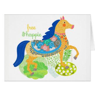 Blue horse by Gemma Orte Designs Card