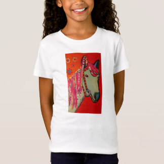 Blue Horse Girls Fitted T-Shirt