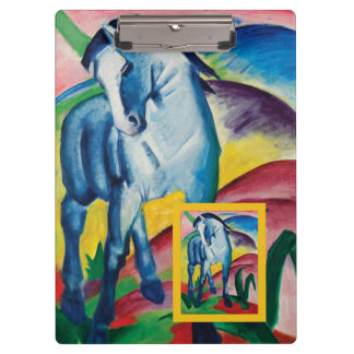 Blue Horse I by Franz Marc Clipboard