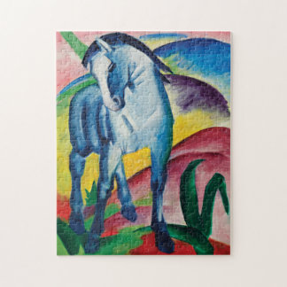 Blue Horse I by Franz Marc Jigsaw Puzzle