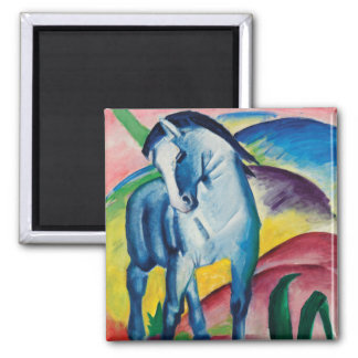 Blue Horse I by Franz Marc Magnet