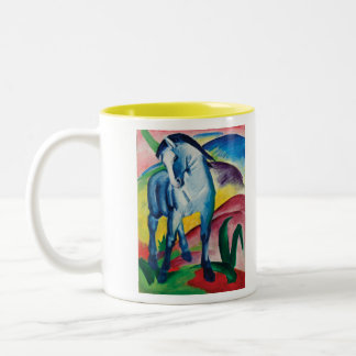 Blue Horse I by Franz Marc Two-Tone Coffee Mug
