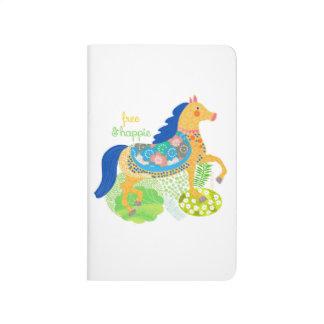 Blue horse  illustration notebook