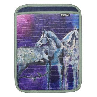 Blue Horse Mural iPad sleeve