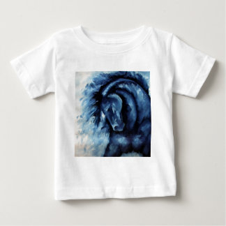 Blue Horse Oil Painting Baby T-Shirt