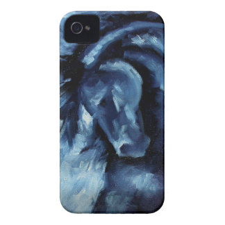 Blue Horse Oil Painting iPhone 4 Case-Mate Case