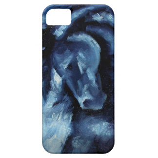 Blue Horse Oil Painting iPhone 5 Case