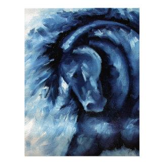 Blue Horse Oil Painting Letterhead