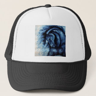 Blue Horse Oil Painting Trucker Hat