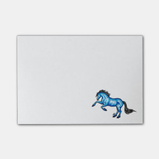 "Blue Horse Post-It Notes Sticky Notes 4"" x 6"""