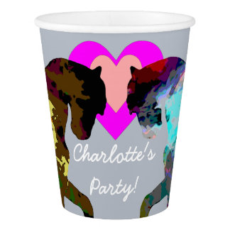 Blue Horses Personalized Paper Cups Paper Cup