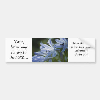 Blue Hosta Trumpets Bumper Sticker
