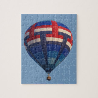 Blue Hot Air Balloon Jigsaw Puzzle