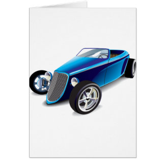 Blue Hot Rod Greeting Cards