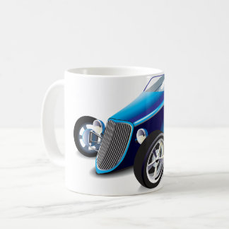 Blue Hot Rod Mug