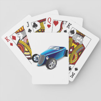 Blue Hot Rod Playing Cards