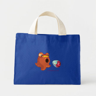 Blue Hotdogtopus Octopus Tote Spitting Out Egg