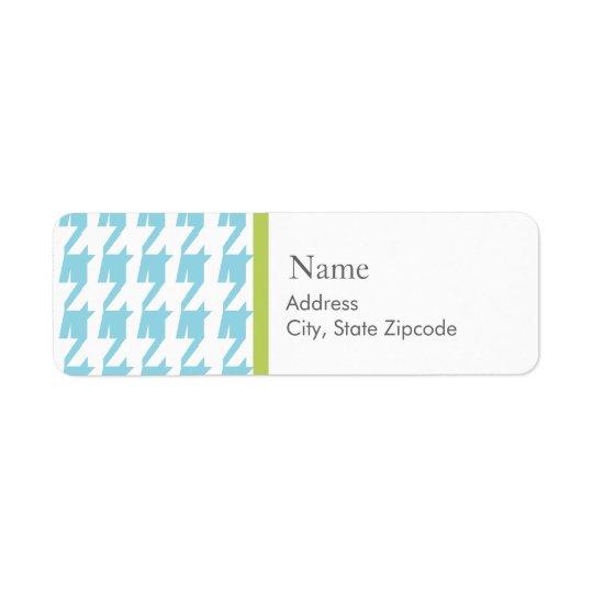 Blue Houndstooth  |  Address Label