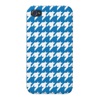 Blue houndstooth cases for iPhone 4