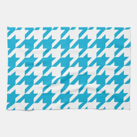 Blue Houndstooth Kitchen Towels