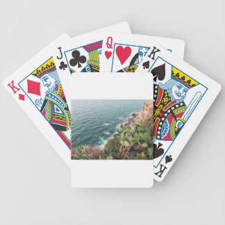 Blue hour bicycle playing cards