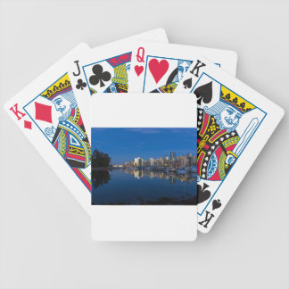 Blue Hour Reflection of Vancouver BC Bicycle Playing Cards