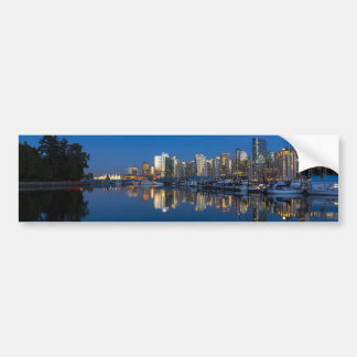 Blue Hour Reflection of Vancouver BC Bumper Sticker