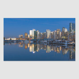 Blue Hour Reflection of Vancouver BC Sticker