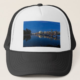 Blue Hour Reflection of Vancouver BC Trucker Hat